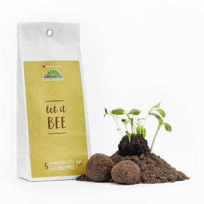 "5 Handgemachte Seedbombs ""Let It Bee"""