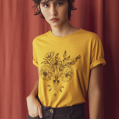 "T-Shirt ""Uterus Power"" Ochre"