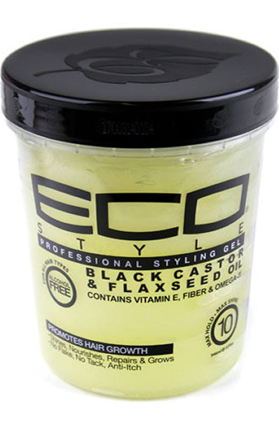 Eco Style Styling Gel [Black Castor & Flaxseed Oil] (32oz)