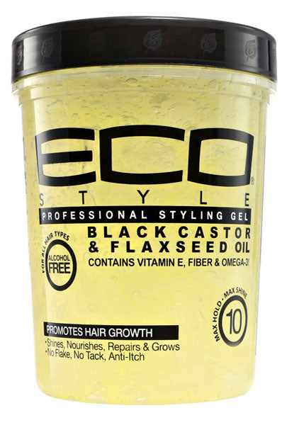 Eco Style Styling Gel [Black Castor & Flaxseed Oil] (5Lb)