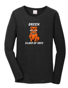 Green Class of 2021 Women's Long Sleeve Tee