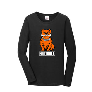 Green Football Women's Long Sleeve Tee