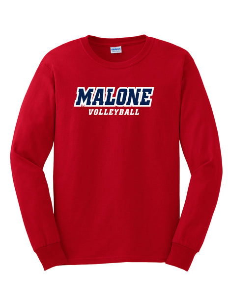 Malone Volleyball Men's Long Sleeve Tee