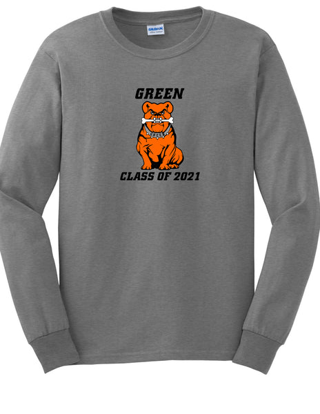 Green Class of 2021 Men's Long Sleeve Shirt