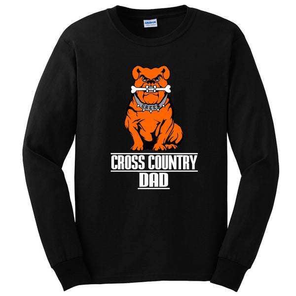 Green Cross Country Men's DAD Long Sleeve Tee Shirt