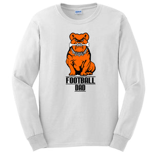 Green Football DAD Long Sleeve Tee