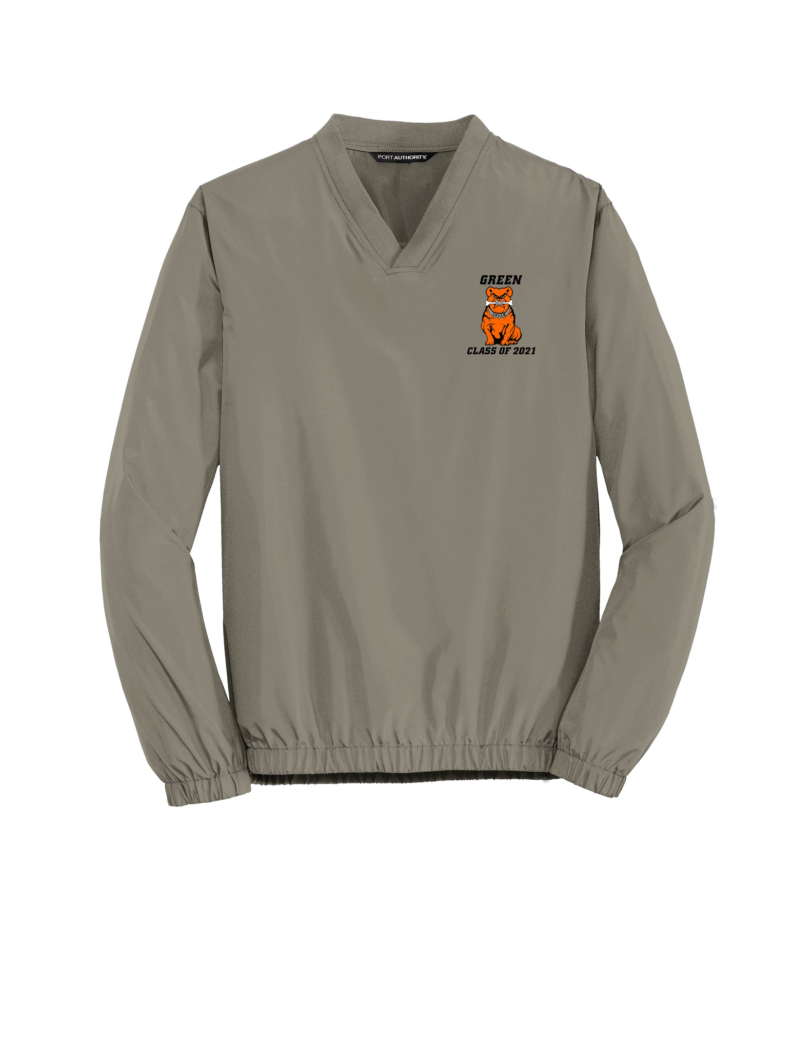 Green Class of 2021 Men's V-Neck Pullover