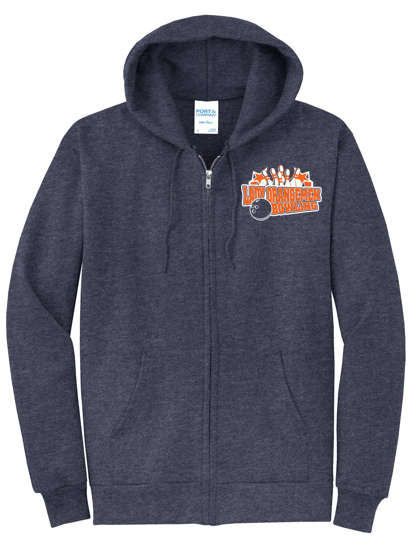 Lady Orangemen Zip Up Sweatshirt