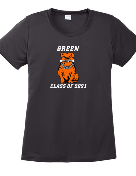 Green Class of 2021 Women's Polyester Tee