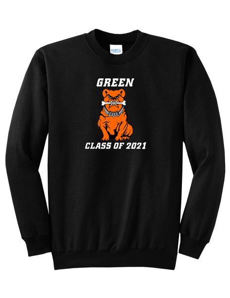 Green Class of 2021 Unisex Crewneck Sweatshirt