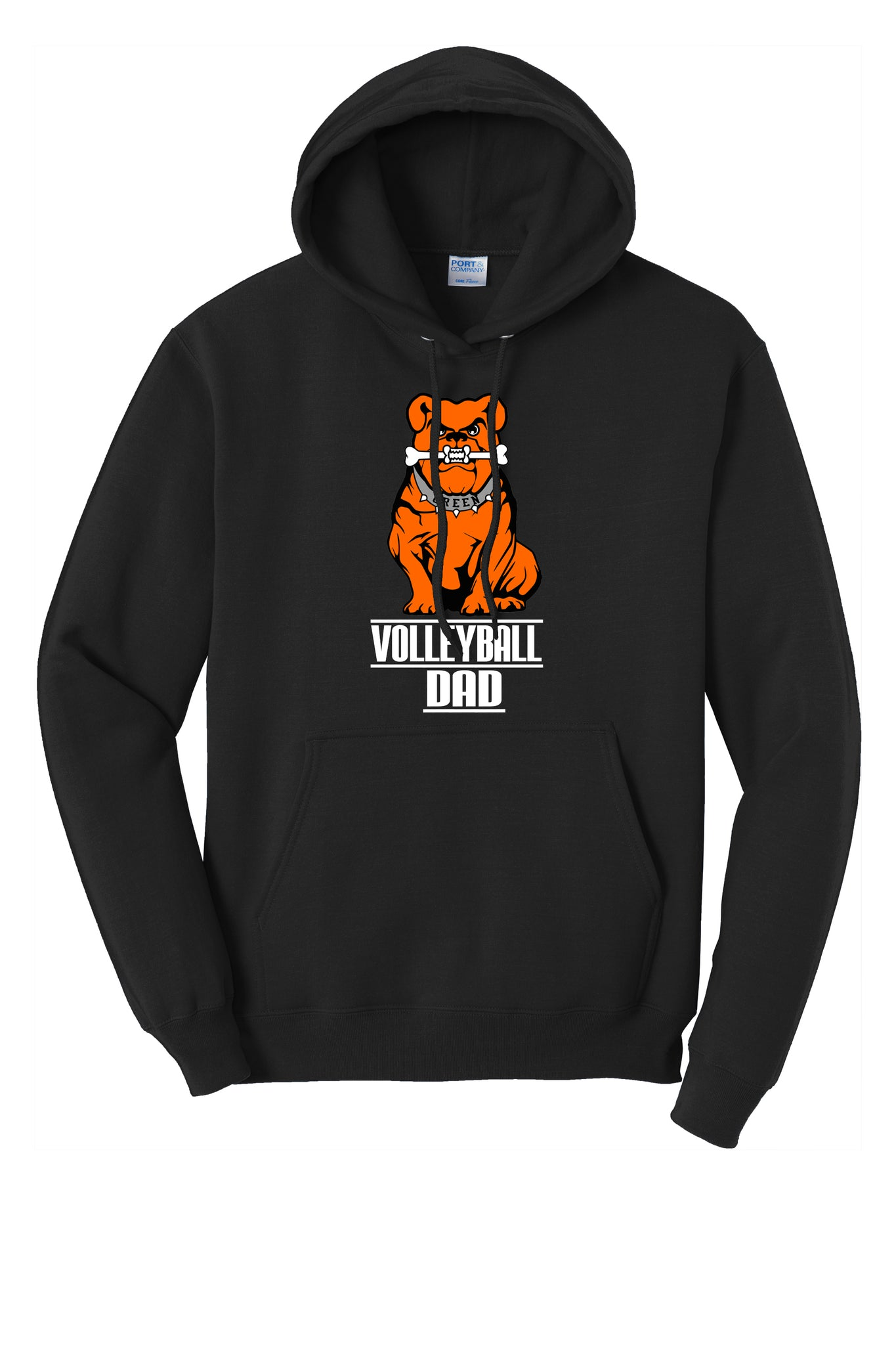 Green Volleyball Unisex Hooded Sweatshirt