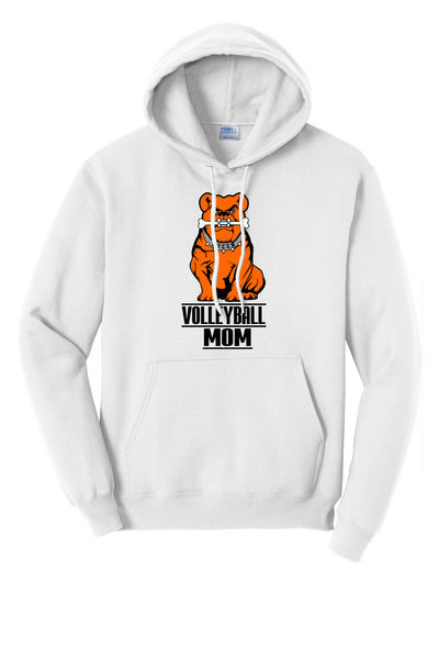 Green Volleyball MOM Unisex Hooded Sweatshirt