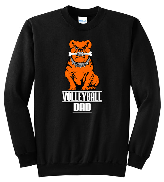 Green Volleyball DAD Unisex Crewneck Sweatshirt