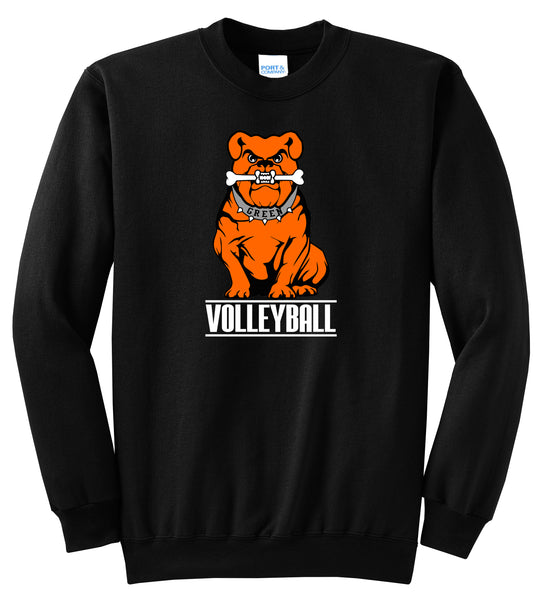 Green Volleyball Unisex Crewneck Sweatshirt