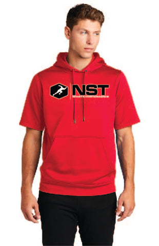 Sport Fleece Short Sleeve Hooded Sweatshirt