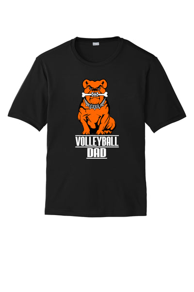 Green Volleyball DAD Short Sleeve Polyester Short Sleeve