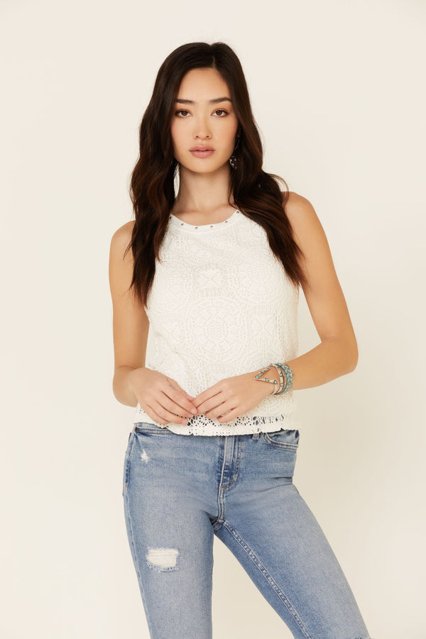 Palm Springs Tank Top - Ivory