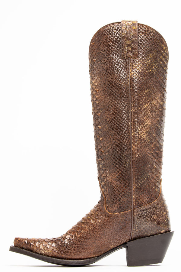 Smok'n Brown Western Boots - Snip Toe - Brown