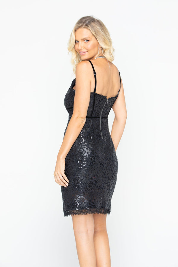 Tour Life Lace Dress - Black
