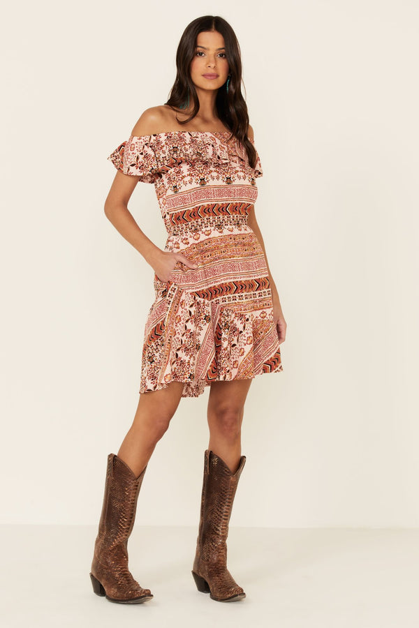 Aztec Made For This Dress - Blush