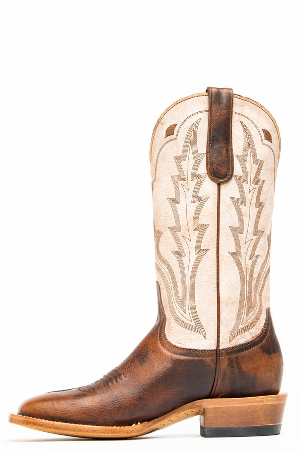 Rodeo Western Performance Boots - Wide Square Toe - Brown