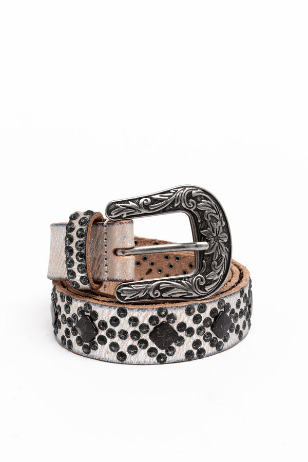 Sweet Souls Studded Belt - Steel
