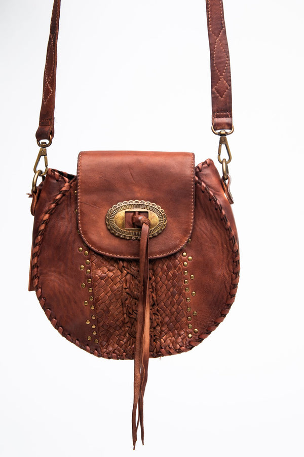 The Round About Crossbody Bag - Brown
