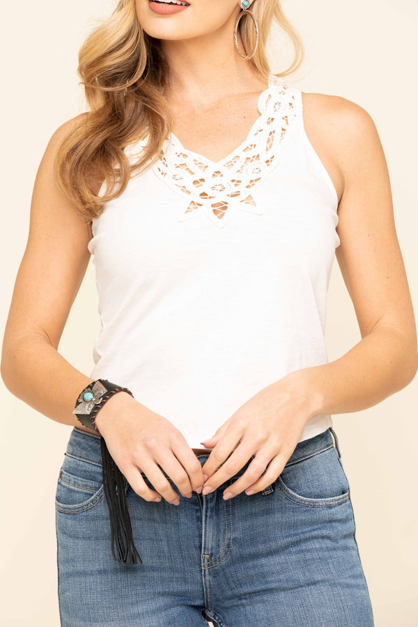 Natural Horizon Crochet Top - Natural