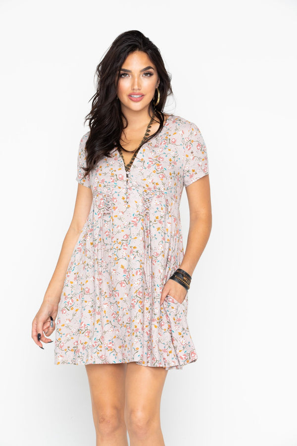Meadow Mini Dress - Blush