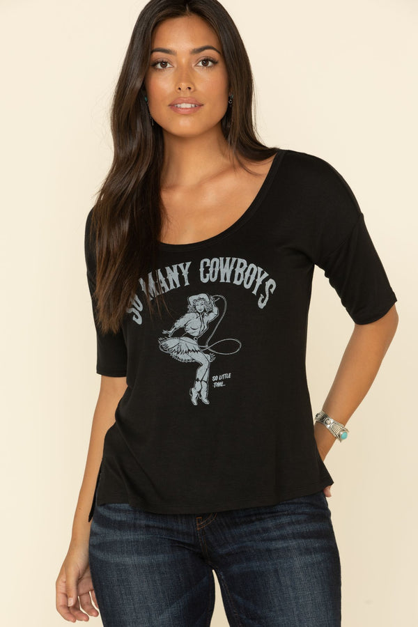 So Many Cowboys Weekender Tee - Black