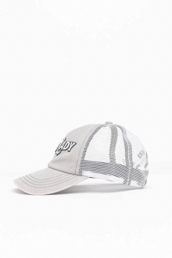 Boss Lady Grey Baseball Hat