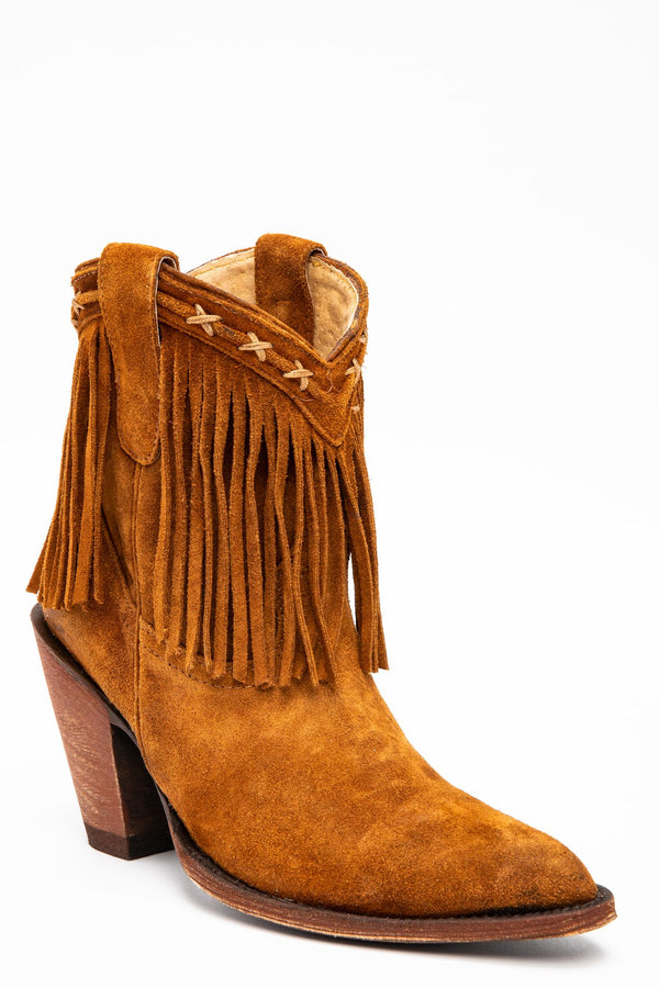 Swagger Fashion Booties - Round Toe - Coffee