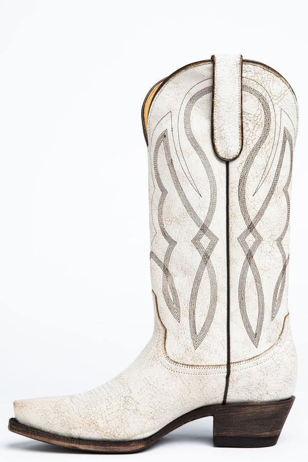 Colt Western Boots - Snip Toe - White
