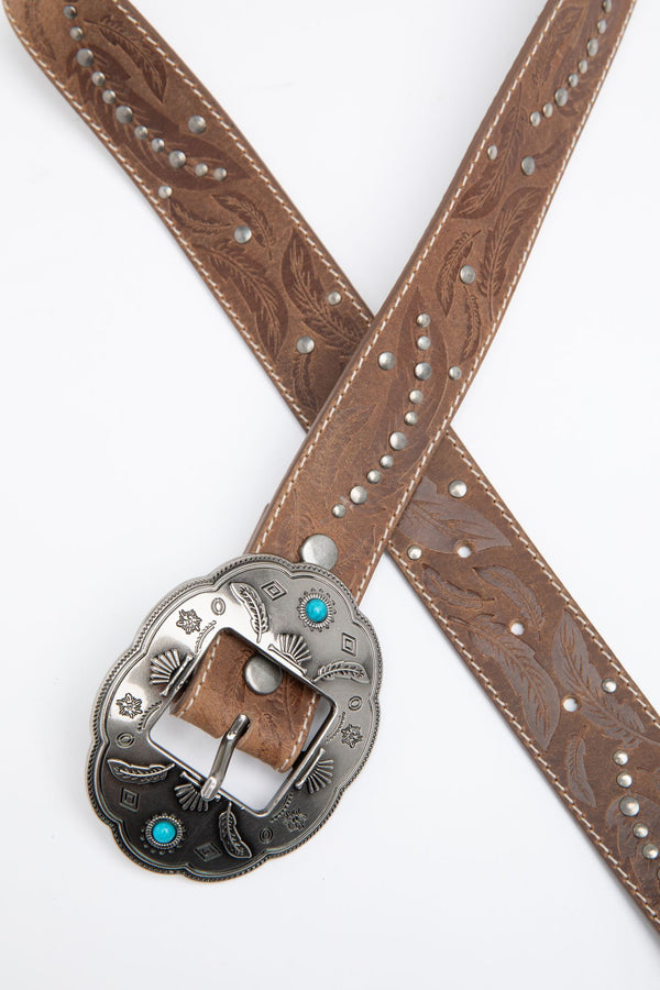 Dancing In The Dust Turquoise Belt - Brown