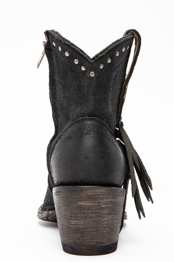 Maverick Fashion Booties - Round Toe - Black