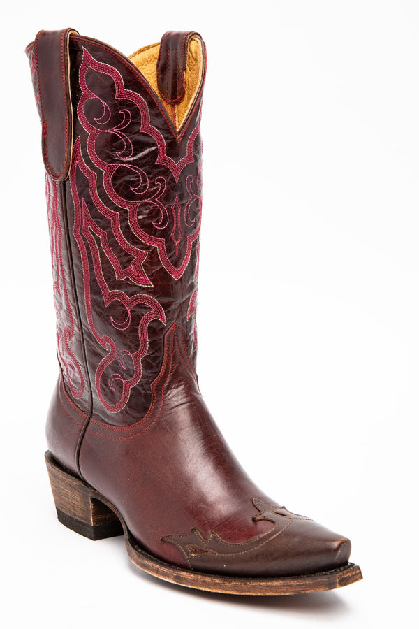 Roanoke Western Performance Boots - Snip Toe - Dark Red