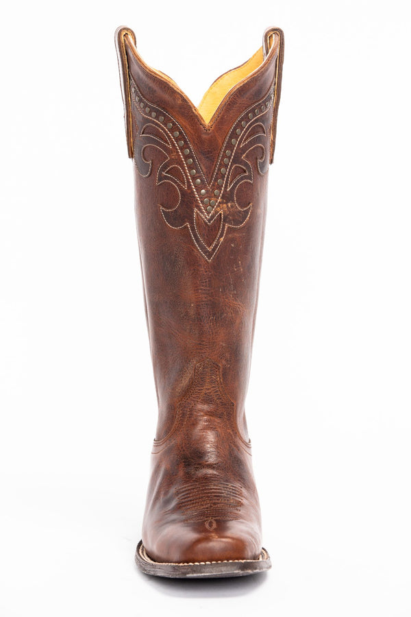 Tough Cookie Western Boots - Fashion Square Toe - Brown