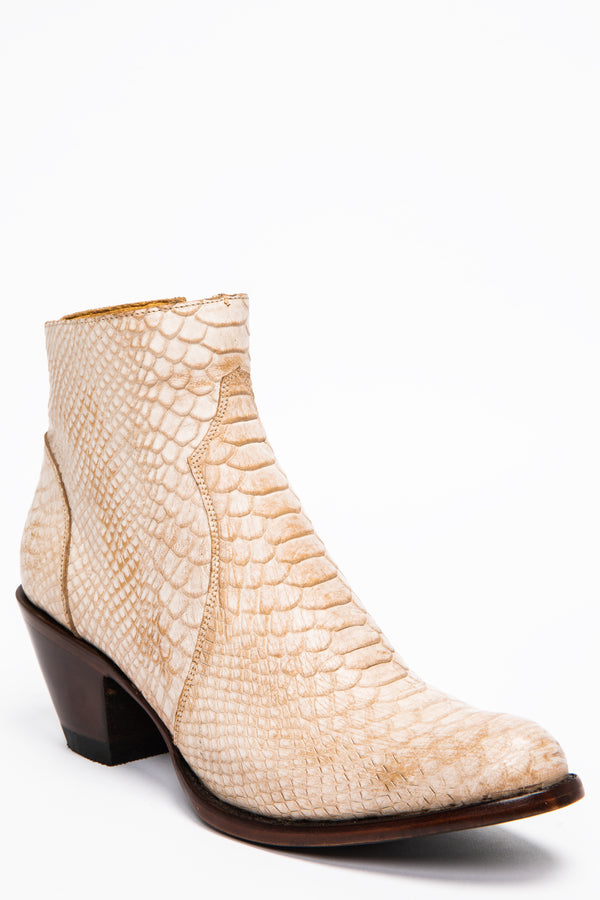 Wings Bone Western Booties - Round Toe
