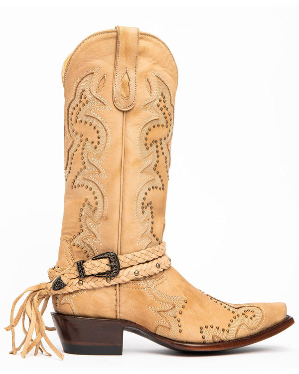 Ivory Barfly Western Boots - Snip Toe