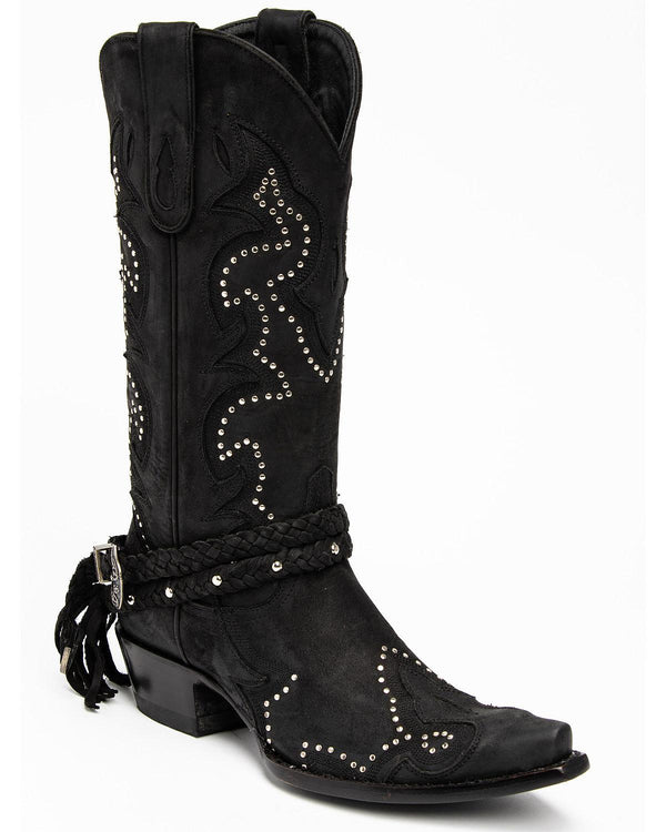 Barfly - Black Western Boots - Snip Toe