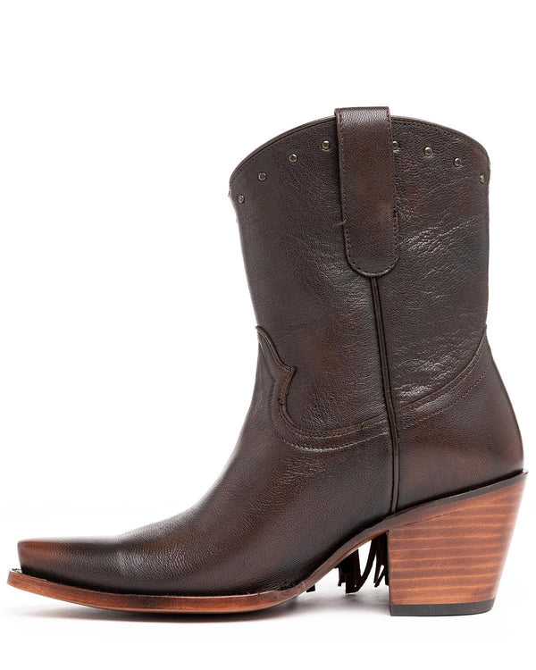 Plaity Please Brown Fashion Booties - Snip Toe