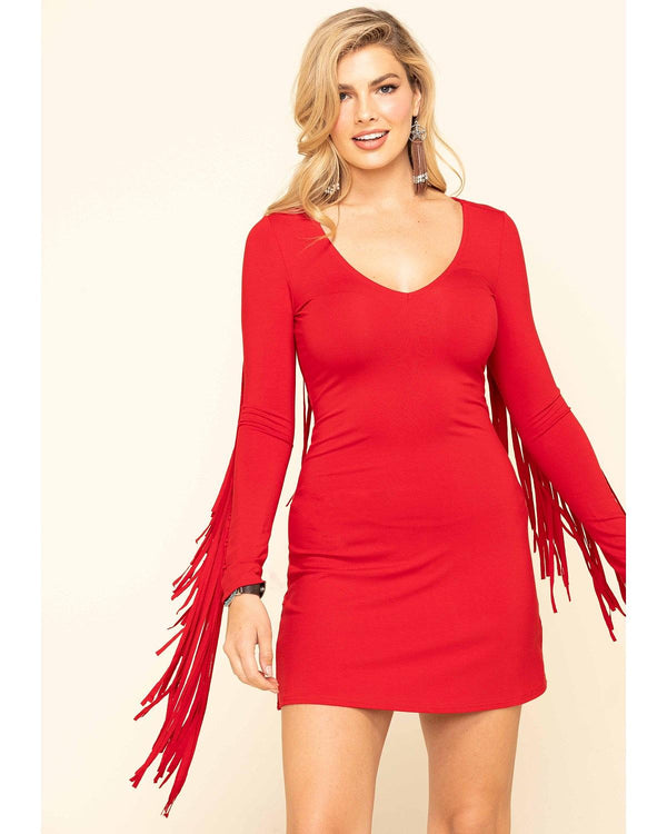 Red I Feel Like Dancing Dress