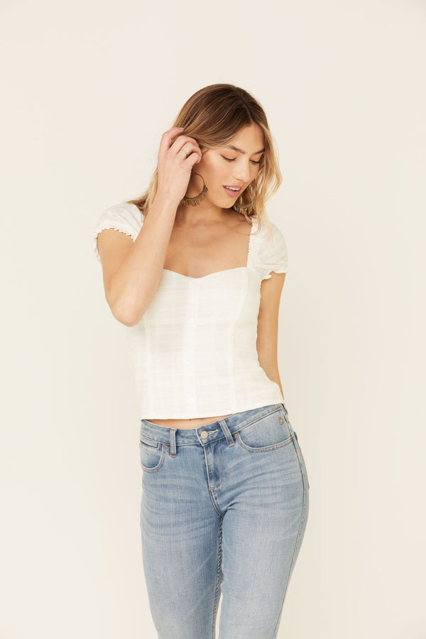 Honey Do Corset Top - White