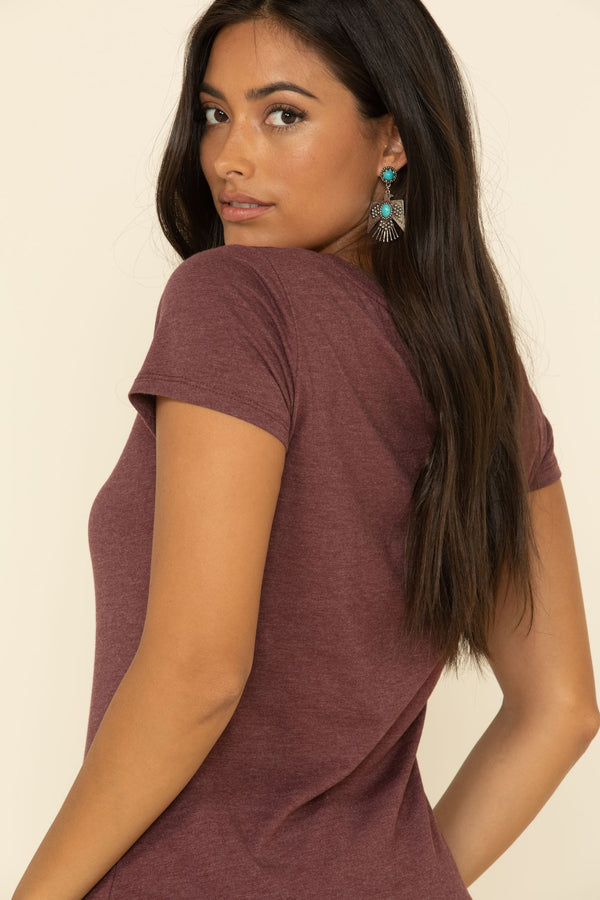 Boss Lady Trustie Tee - Burgundy