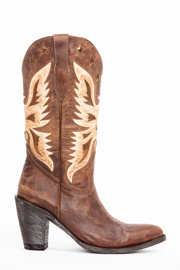 Vice Western Boots - Round Toe - Brown
