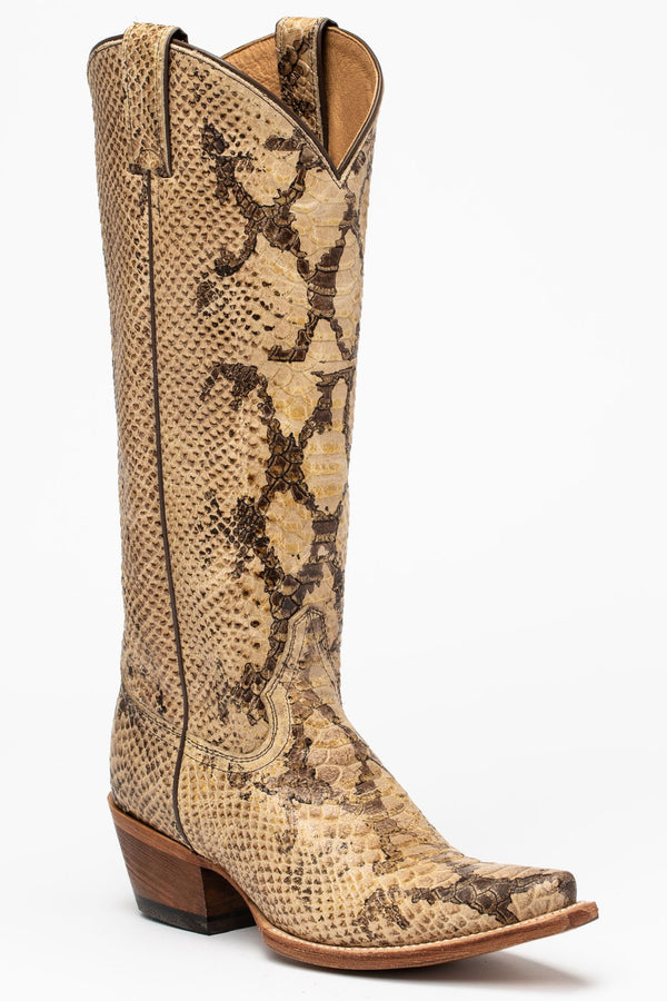 Temptation Western Boots - Snip Toe - Natural