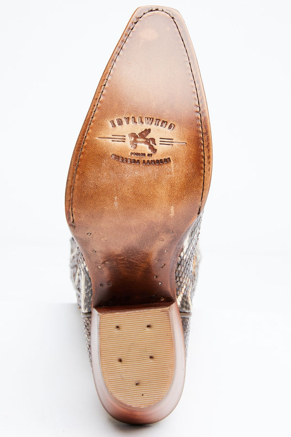 Sensation Western Boots - Snip Toe - Brown