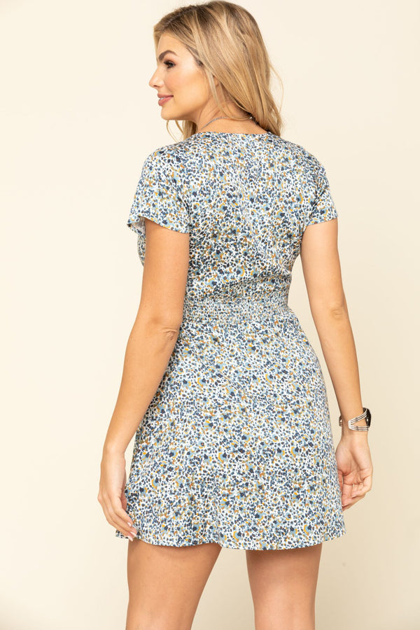 Willow Floral Dress - Blue