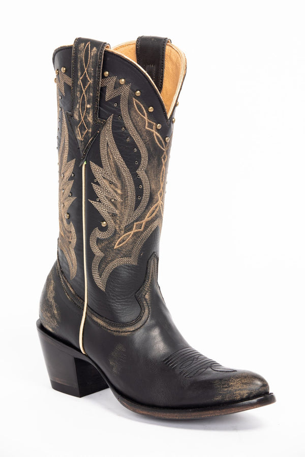 Go West Western Boots - Round Toe - Black