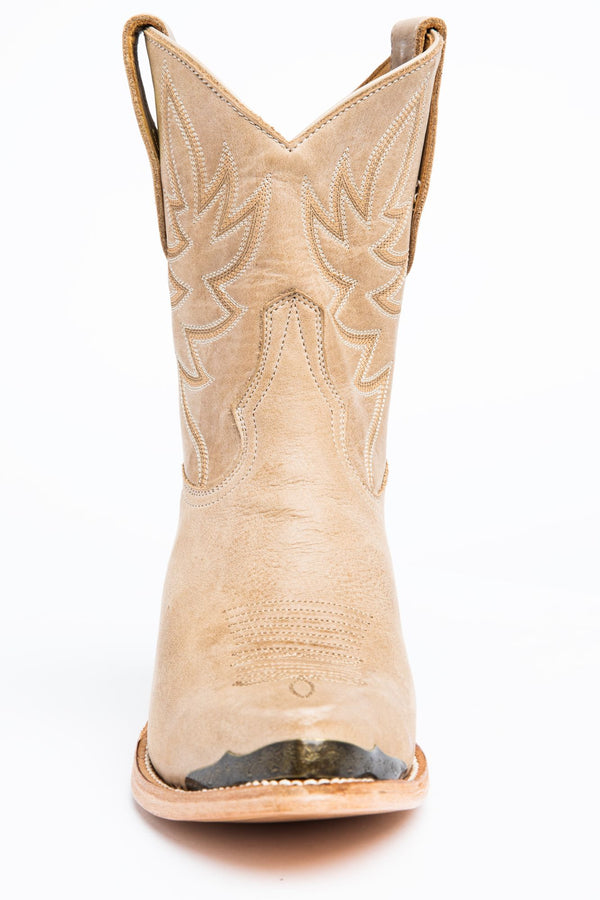 Wheels Natural Western Booties - Pointed Toe - Natural